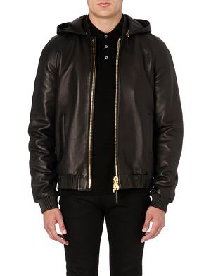 GIUSEPPE ZANOTTI Chain back leather jacket