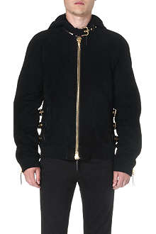 GIUSEPPE ZANOTTI Buckle-detailed suede jacket