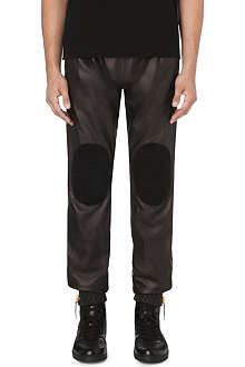GIUSEPPE ZANOTTI Leather patch jogging bottoms