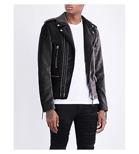 GIUSEPPE ZANOTTI Lance velvet jacket (Black