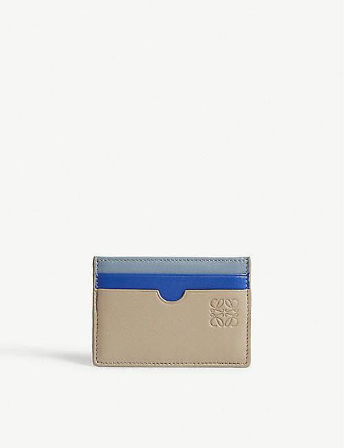 Card holders mens bags selfridges shop online loewe plain leather card holder reheart Choice Image