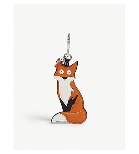 LEATHER FOX CHARM
