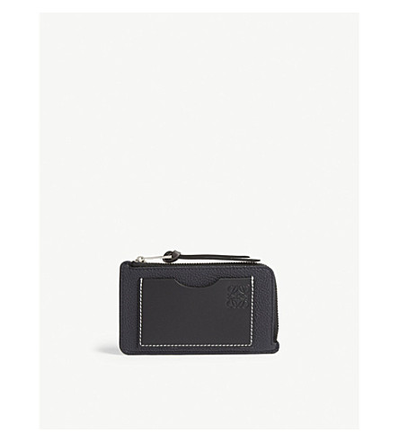 LOEWE Grained leather card holder