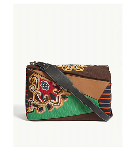 LOEWE Puzzle extra-large embroidered shoulder bag (Multicolour