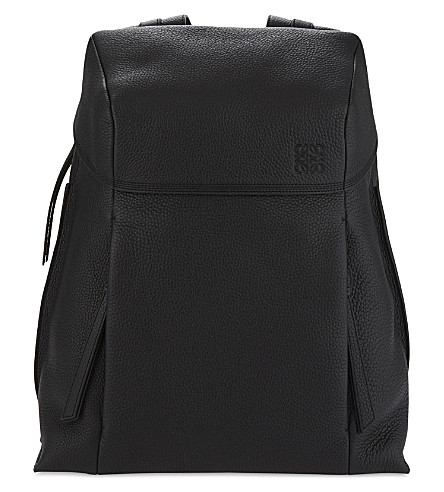 LOEWE Small grained leather backpack (Black