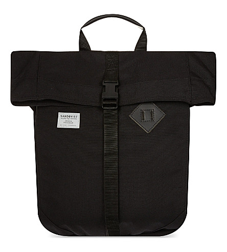 SANDQVIST Eddy roll top backpack (Black
