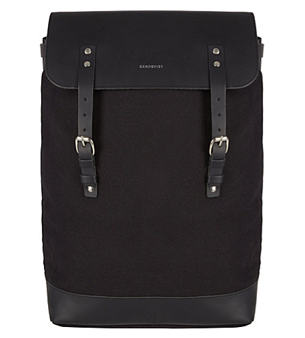 SANDQVIST Hege canvas backpack (Black