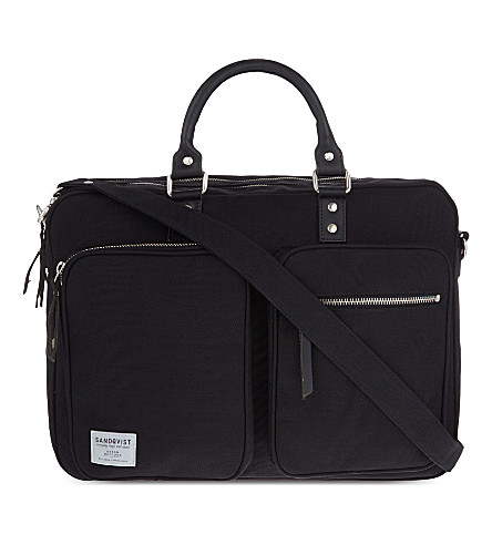 SANDQVIST Arne cordura messenger bag (Black