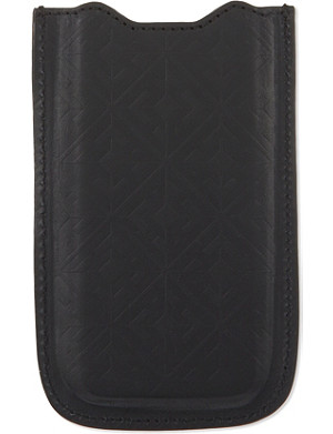 HARDY AMIES Embossed leather moulded iPhone case