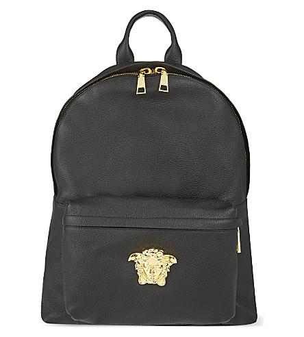 VERSACE Medusa leather backpack (Nero/oro caldo