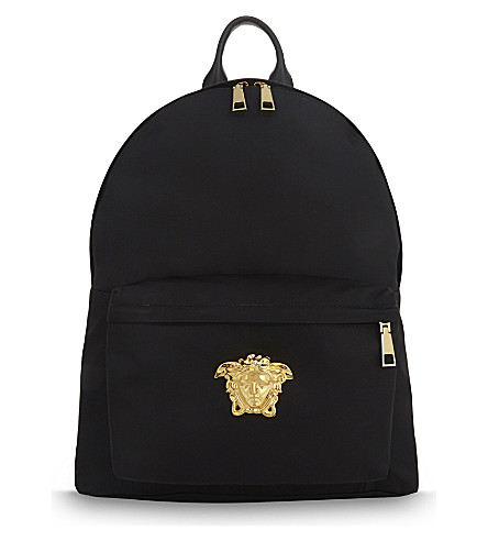 VERSACE Medusa nylon backpack (Black