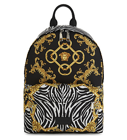 VERSACE Medusa backpack (Black/gold
