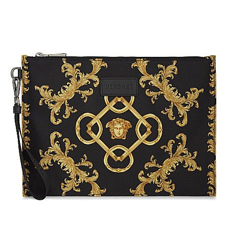 VERSACE Medusa head pouch (Black/gold