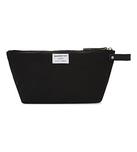 SANDQVIST Cleo cotton-blend washbag (Black