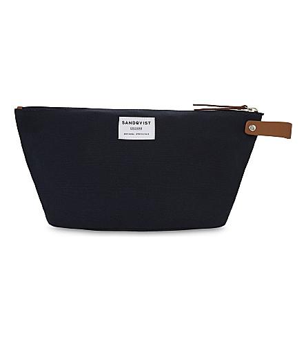SANDQVIST Cleo cotton-blend washbag (Navy+blue
