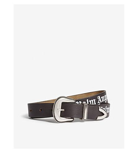 PALM ANGELS Logo leather belt (Multi