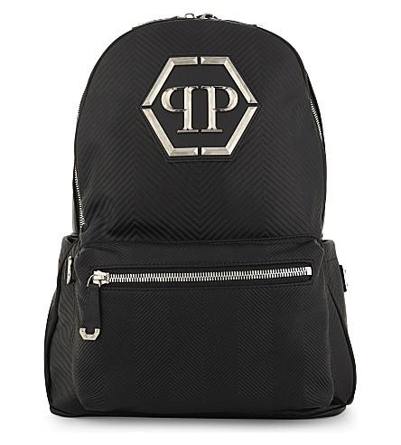 PHILIPP PLEIN Oceano leather backpack (Black/nickel