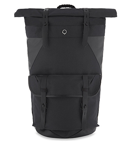 STIGHLORGAN Ronan cotton canvas backpack (Black+on+black