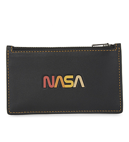 COACH NASA leather card holder (Black