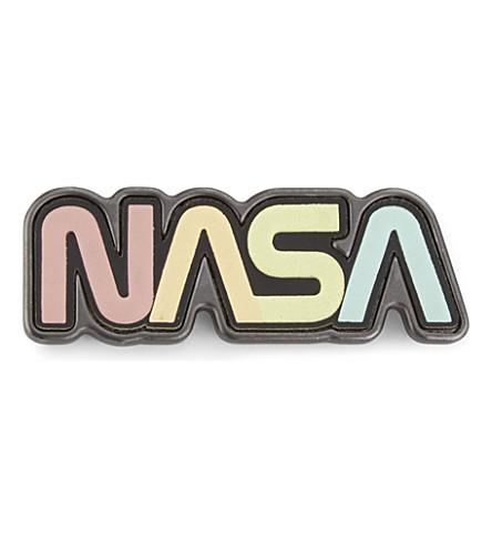 COACH NASA logo leather and metal badge (Multi