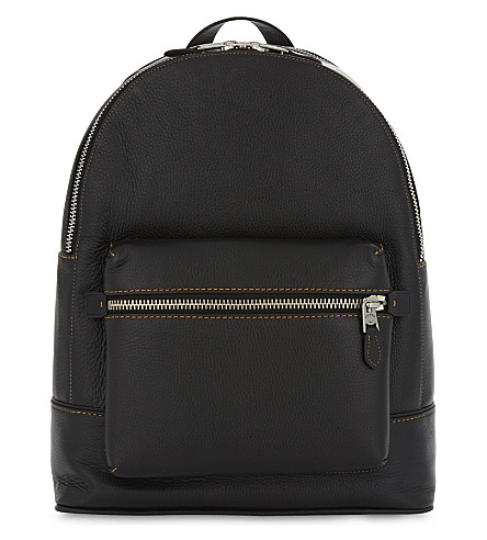 COACH Glove-tanned leather backpack (Black