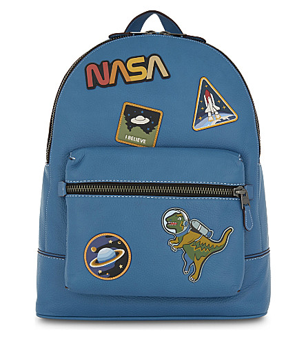 COACH Nasa space leather backpack (Blue