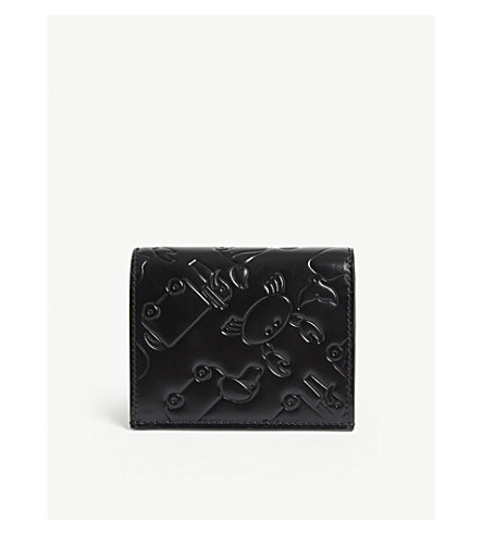 THOM BROWNE Toy icon leather card case