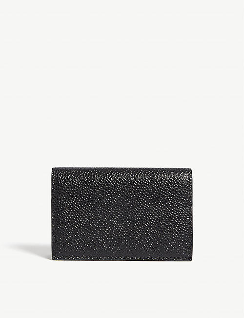 Card holders mens bags selfridges shop online thom browne leather business card holder reheart Images