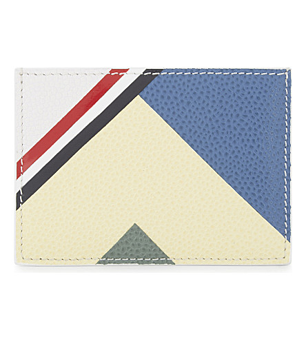 THOM BROWNE Leather card holder (White
