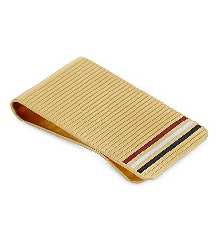THOM BROWNE Stripe detail money clip (Gold