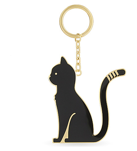 THOM BROWNE Thom cat keyring (Black