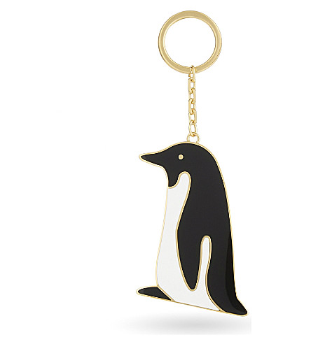 THOM BROWNE Penguin key ring (Blk/wht