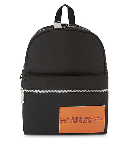 CALVIN KLEIN 205W39NYC Logo backpack (Black