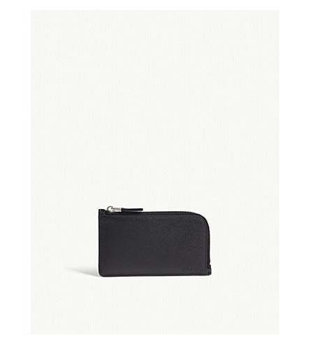 PRADA Saffiano leather zipped card case (Black
