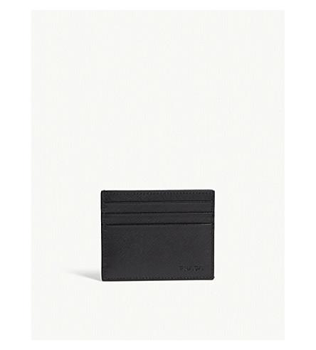PRADA Saffiano leather card holder (Black