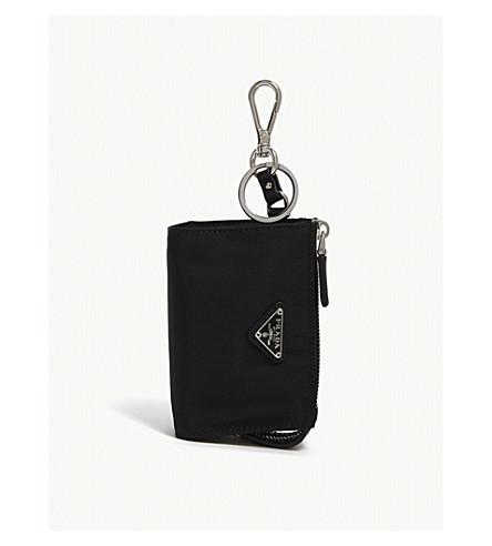 Mini llavero de negro bolsa nylon PRADA RnxSR
