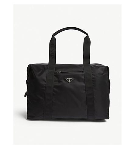 PRADA Nylon technical weekender bag (Black