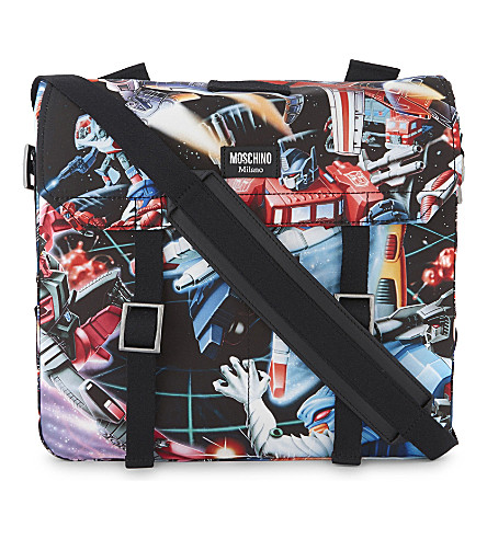 MOSCHINO Transformers backpack (Blue+multi