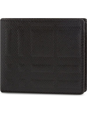 BURBERRY Embossed check pattern wallet