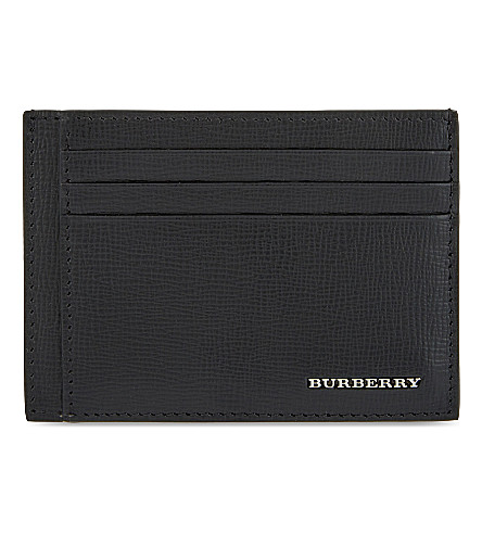 BURBERRY Bernie leather cardholder (Blk