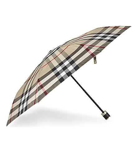 BURBERRY Trafalgar check print umbrella (2310b