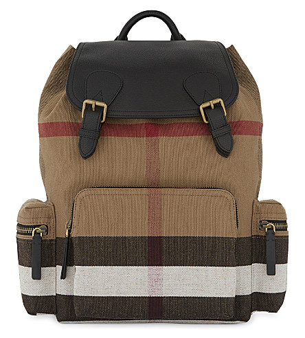BURBERRY House Check canvas backpack (2310c