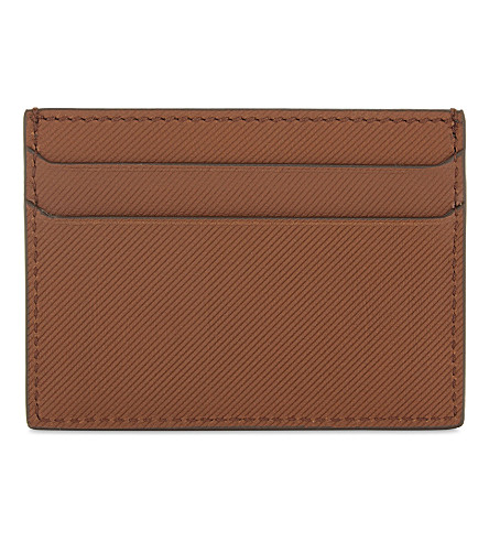 BURBERRY Sandon Leather Card Holder in Gold