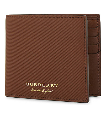 BURBERRY Logo textured leather wallet (21600