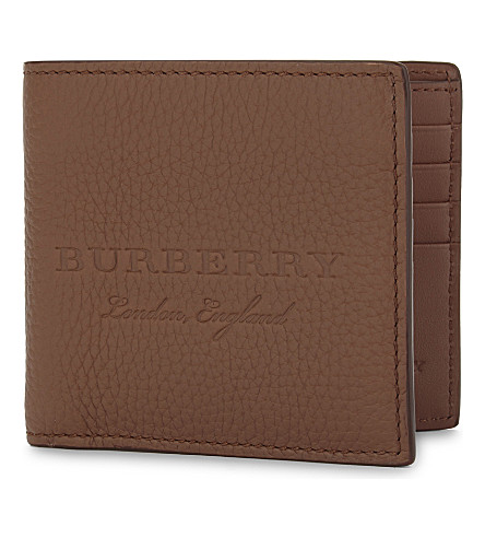 BURBERRY Embossed logo leather wallet (Chestnut+brown