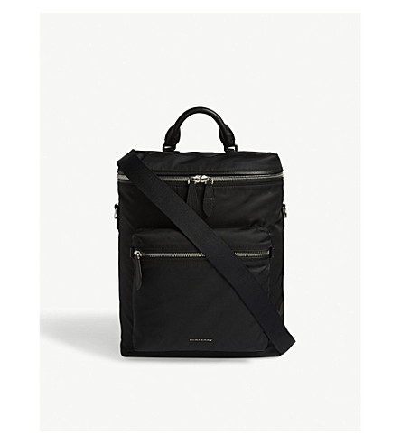 BURBERRY London Donny nylon backpack (Black