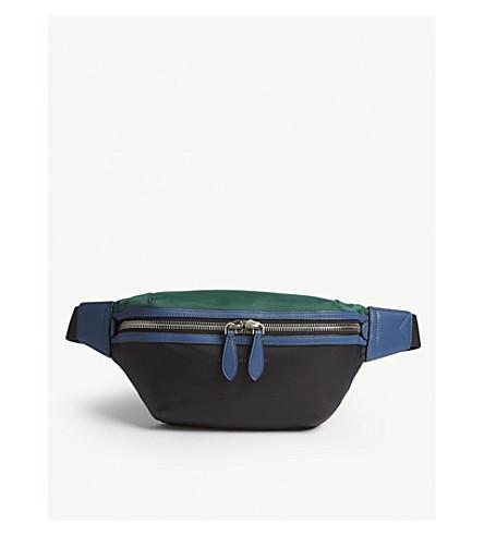 BURBERRY Tri-tone nylon and leather bum bag