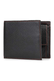 SIMON CARTER Cinnamon-stitched soft leather wallet