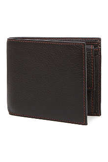 SIMON CARTER Cinnamon-stitched soft-leather wallet