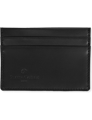 SIMON CARTER Cinnamon-stitched leather card holder